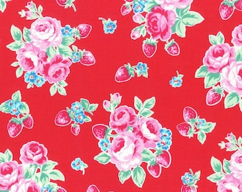 Lecien - Flower Sugar Berry Collection - Strawberry Bloom in Red