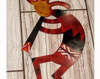 Metal Kokopelli, Kokopelli wall art, wall art, kokopelli laser cut wall decor,laser cut kokopelli,laser cut patina, patina kokopelli, patina