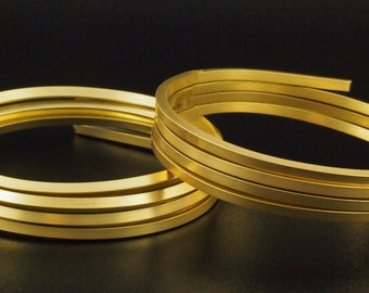 Square 8 gauge Rich Low Brass Wire - Ready for Making Bangles - 100% Guarantee