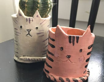 Pink Kitty - Ceramic Holder