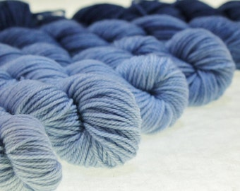 Mini Skein Ombre Gradient Yarn Choose Your Base -  DRESS BLUES