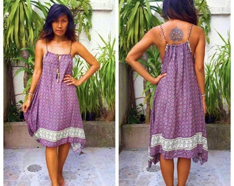 Sexy Cute Psychedelic Flower Printed Summer sun dress. Two beautiful and unique styles. Maxi sun dress. 2 Colors.