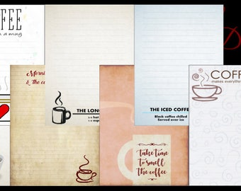 But First, Coffee Printable Journal Pages