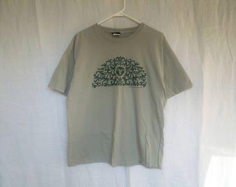 90s Green Hippie Nature Lover Sage Green T-Shirt