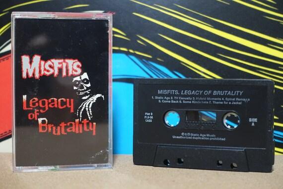 Legacy Of Brutality by Misfits Vintage Cassette Tape