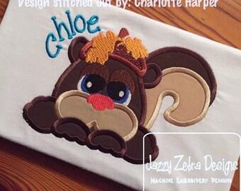 Squirrel 120 Applique Embroidery Design - Squirrel applique design - fall applique design