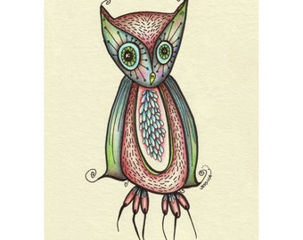 Ingrid the Owl - Limited Edition Print - owl decor - owl baby shower