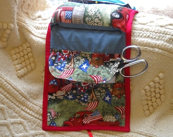 Americana Sewing Caddy, Handwork Organizer SALE
