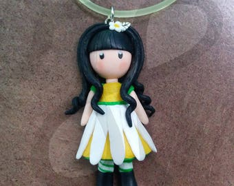 Pendant with floral doll: Daisy