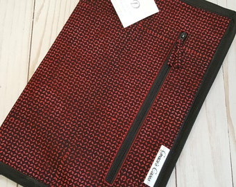 Tips Too case in Red and Black Batik Knit