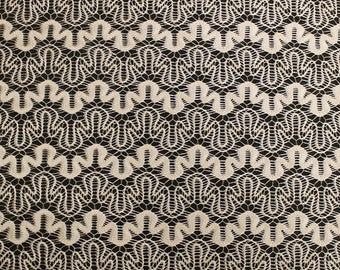 Tan Art Puzzle Lace Fabric by the Yard - Style 261