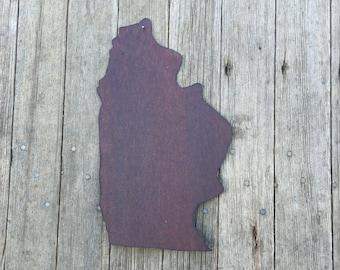 state of Illinois, Illinois wall hanging, rustic tin state of Illinois, tin Illinois, Illinois decor, Illinois