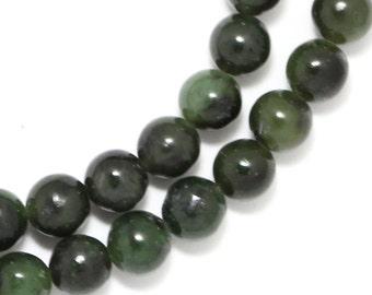 Nephrite Jade Beads - 6mm Round