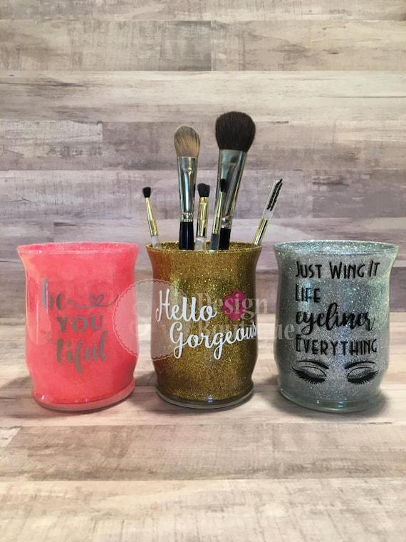Glitter MakeUp Brush Holder Cosmetic Brushes Glitter Sealed