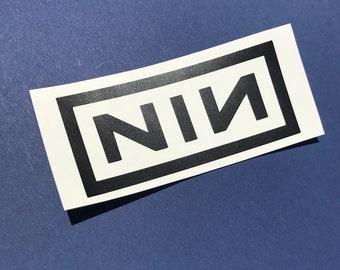 Nine Inch Nails Decal, Nine Inch Nails Sticker, Nine Inch Nails Bumper Sticker, Nine Inch Nails Car Decal, NIN, Nine Inch Nails, NIN Decals