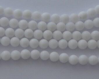 10 pearls 8 mm white jade