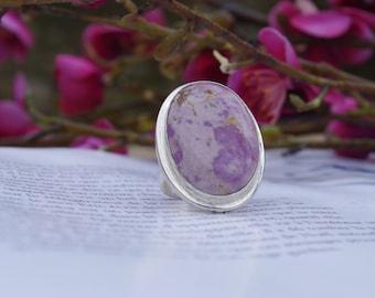Phosphosiderite ring, size 53 or 6.5 US, rare stone