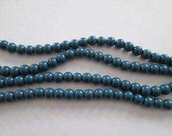 8 mm 20 perles rondes en verre bleu paon diamètre 8 mm