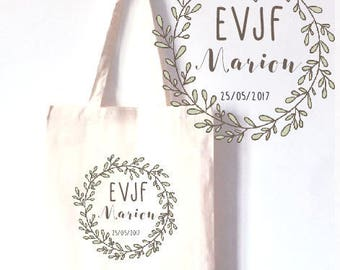 "TOTE BAG 100% cotton personalized Bachelorette ""party"""