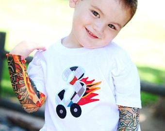 Tattoo Sleeve T shirt Third Birthday Toddler Three