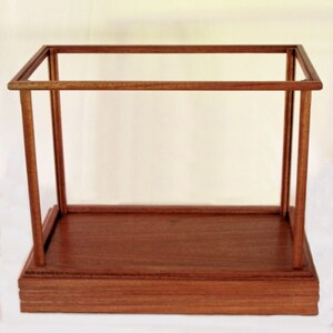 Wood and Glass Display Case - Mahogany, Options also available - Cherry, Maple, Red, Walnut, Oak or Pine