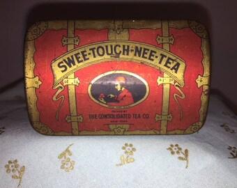 Sweet Touch Nee Tea Tin Vintage