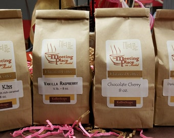 Chocolate Gourmet Coffee Sampler, Flavored Coffee, Coffee Gift Set, Hostess Gift, Birthday Gift, Thank You Gift, Coffee Gift, Valentine