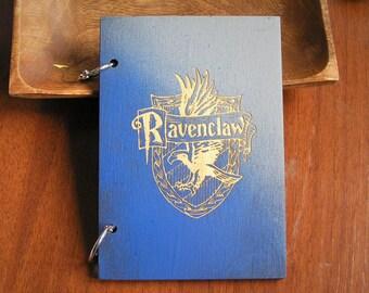 Ravenclaw Harry Potter wooden sketchbook hogwarts hand painted