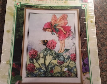 Unopened Vintage Flower Fairy Cross Stitch Kit The Red Clover Fairy