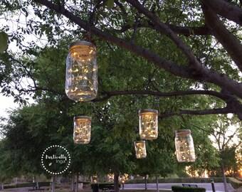 Fairy Light (Hanging) | Mason Jar Light | Firefly Light | Wedding Light | Outdoor Lighting | Rustic Lighting | String Lighting