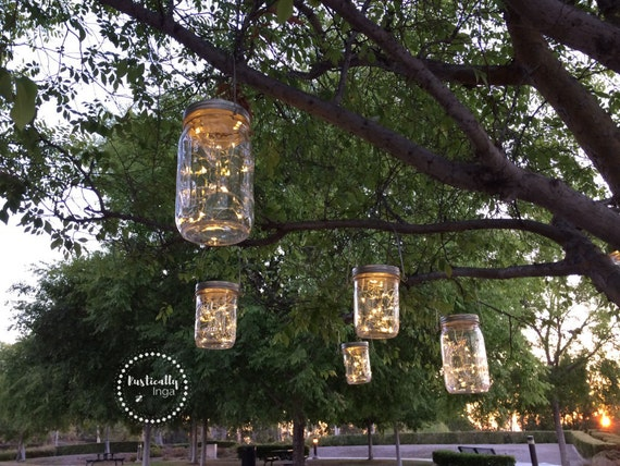 Fairy Light (Hanging) | Mason Jar Light | Firefly Light | Wedding Light | Outdoor  Lighting | Rustic Lighting | String Lighting From RusticallyInga On Etsy ...