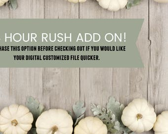 24 Hour Rush Add On for Digital Order Only
