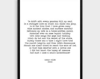 "Oscar Wilde ""Helas"" Print | Inspirational Print, Literature Poster, Poem Print, Literature Art, Literature Print, Book Art, Typewriter Quote"