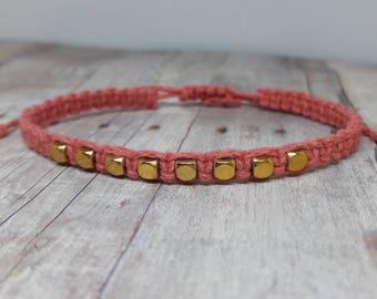 Hemp Bracelet - Hemp Jewelry - Minimalist Jewelry - Minimalist  Bracelet - Adjustable Bracelet - Bohemian Jewelry - Bohemian Bracelet