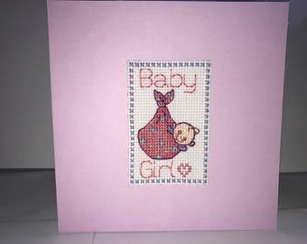 New Baby Card - Girl