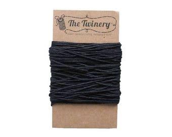 Black Bakers Twine - Solid Charcoal - 15 Yard Bundle