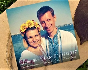 Save the date magnets - Personalized fridge magnets - Custom magnet - Refrigerator photo magnets - Picture Magnets - Lettered wedding magnet