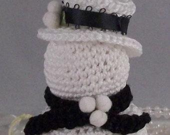 Crochet Snowman, Victorian Crochet Snowman, Snowman Christmas Ornimant,  Holiday Ornimant, Crochet Snowman PDF PATTERN