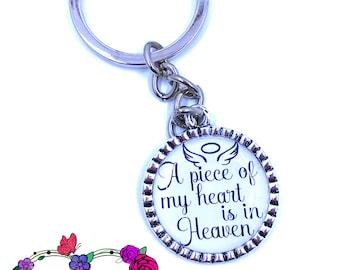 A Piece of My Heart is in Heaven key-chain