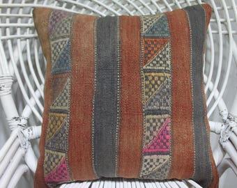 ottoman striped kilim pillow 18x18 boho throw pillows decorative pillow outdoor chair cushion skilm pillow 18x18 outdoor pillows 1943