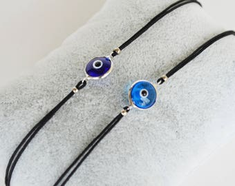 Evil Eye Bracelet - Evil Eye Bracelet With Black String - Turkish Evil Eye - Protection Bracelet