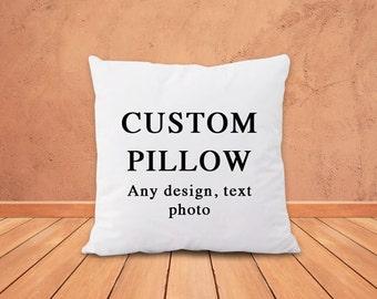 Custom pillow-custom pillow cover-custom quote pillow-custom photo pillow-nursery decor-pet photo pillow-holiday gift-NATURA PICTA-NPCP041