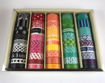 SALE! 45 Pcs Recollections Washi Tape / Crafting Tape / Washi Tape Set / Planner Accessories / Adhesive Tape / Planner Washi