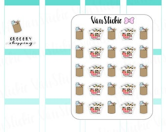 Doodle Set - Grocery Shopping Planner Stickers   VSD 025