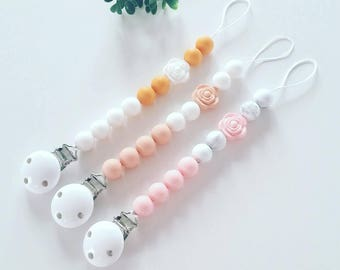 Pacifier Clip, Silicone Pacifier clip, Silicone Teether, baby toy, baby gift