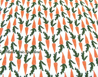 Miniature Mini Carrots Fabric~by the 1/2 yd or yard~Windham Fabrics~ Gardening~Vegetables~Cotton~Garden