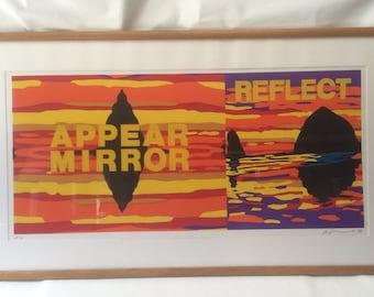 Les Levine, Appear Mirror Reflect, Silkscreen Artist Proof 3/8