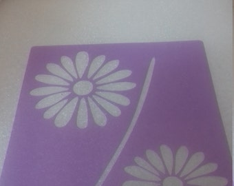 Daisy flowers wall decor stencils bedroom living room kitchen daisies