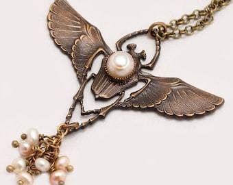 Egyptian Scarab Necklace, Scarab Beetle Jewelry, Scarab Necklace, Beetle Necklace