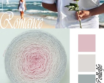 Romance* Merino silk Gradient Yarn hand dyed - Lace weight